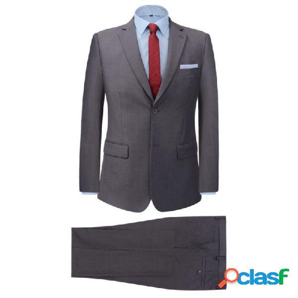 VidaXL - Traje de chaqueta de hombre de dos piezas gris