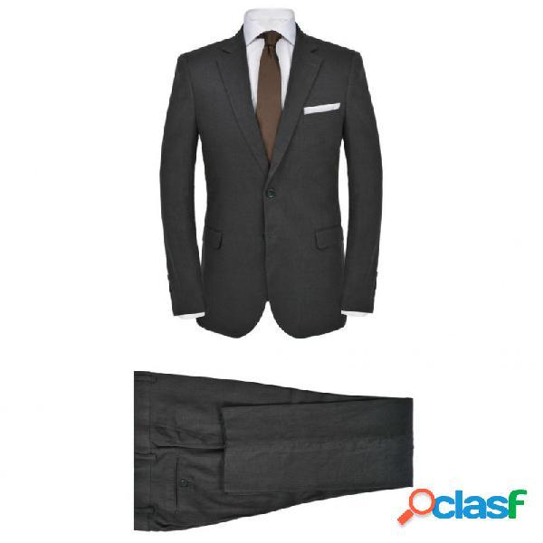 VidaXL - Traje de chaqueta de hombre lino 2 piezas talla 46