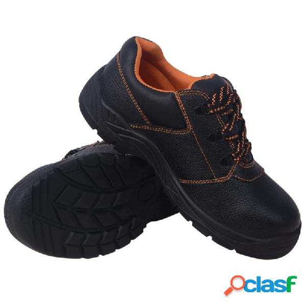 VidaXL - Zapatos de seguridad Negros Talla 41 Cuero Vida XL