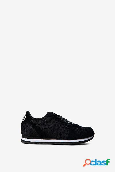 Zapatillas logomanía nylon y ante - BLACK - 41