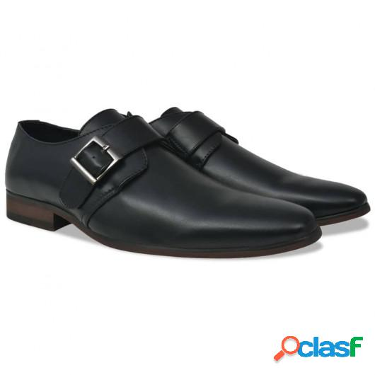 Zapatos de hombre Monk Strap negros talla 41 cuero PU