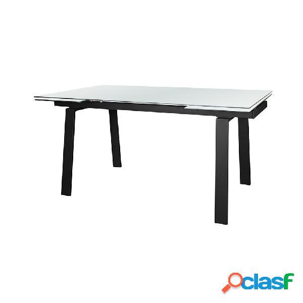 mesa de cristal extensible 160+40+40x90x75cm