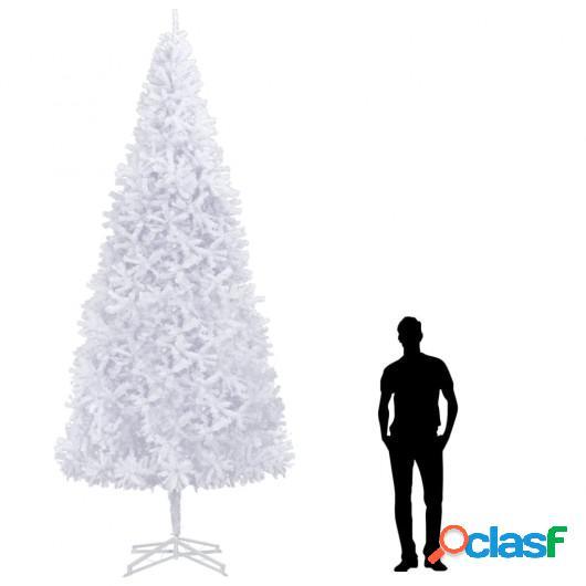 Árbol de Navidad artificial 400 cm blanco