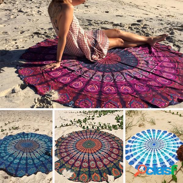 59'' estilo bohemio fino de gasa toalla de playa de yoga