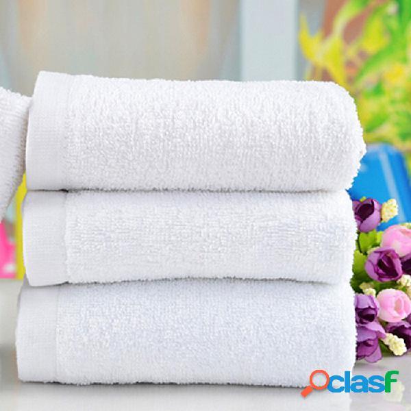 60x30cm Toalla de baño suave de algodón blanco Absorbente
