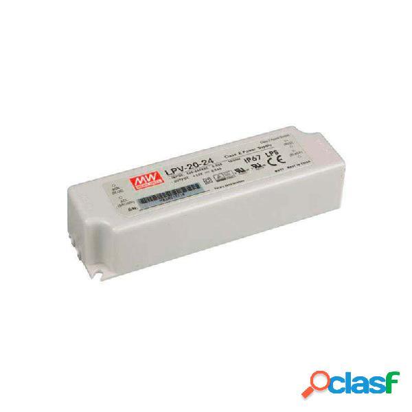 Adaptador de corriente mean well lpv-20-24 ip67