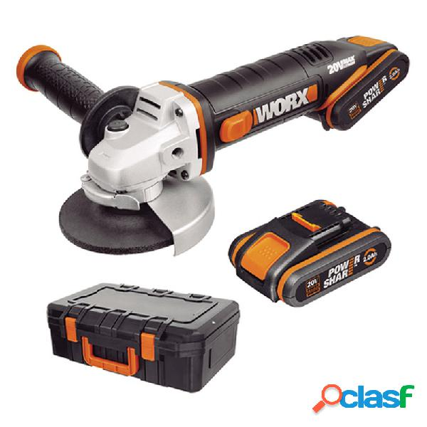 Amoladora bateria worx wx800 115 mm 20v