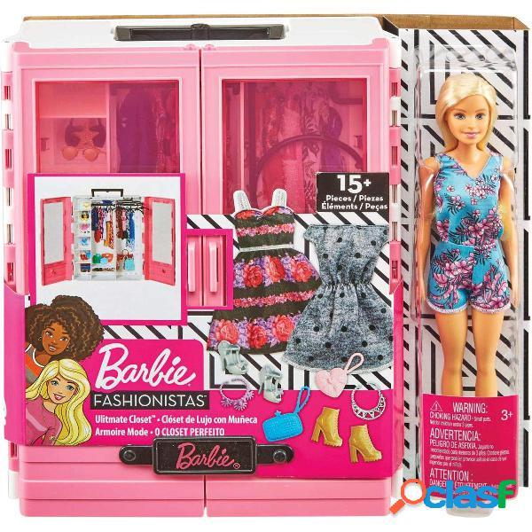 Barbie Fashionista Armario Portable con Muñeca y