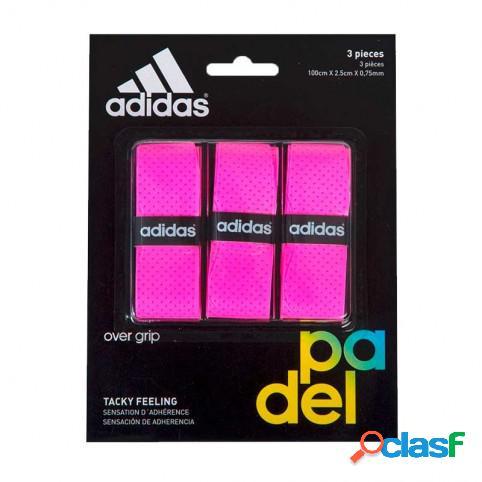 Blister overgrips Adidas 3 uds Rosa 360 - 375 grs U