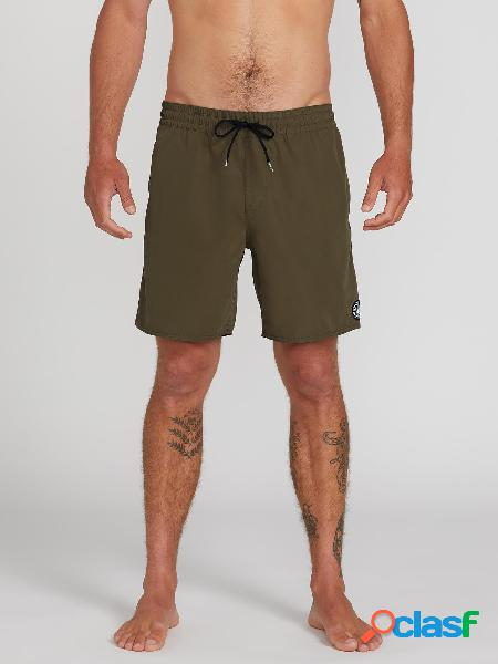 """Boardshort Lido Solid Trunk 16"""" - MILITARY"""