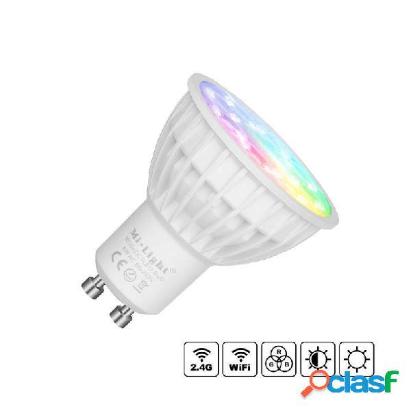 Bombilla led wifi gu10 bulb 4w rgb+cct rgb + blanco dual