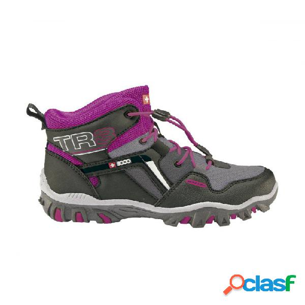 Botas De Montaña +8000 Traso Niños Morado 31 Rosa