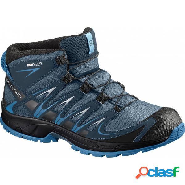 Botas De Montaña Salomon Xa Pro 3d Mid Cswp J Niños Azul