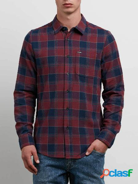 Camisa de Manga Larga Caden - Crimson