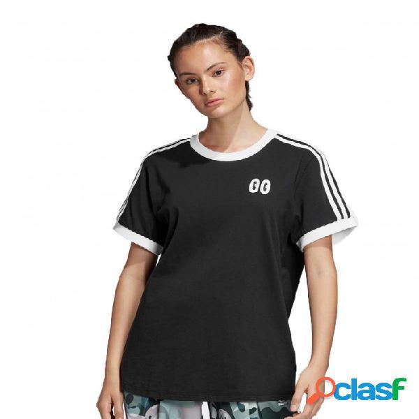 Camiseta Adidas 3 Stripes Tee 42 Negro
