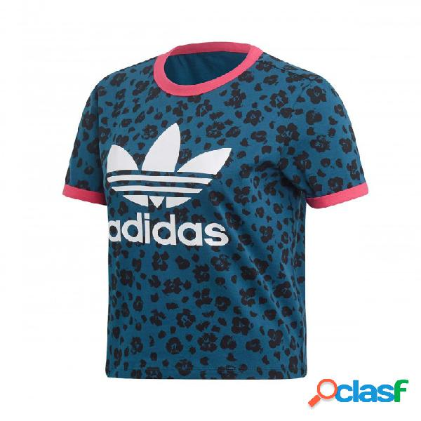 Camiseta Adidas Aop Tee 40 Azul