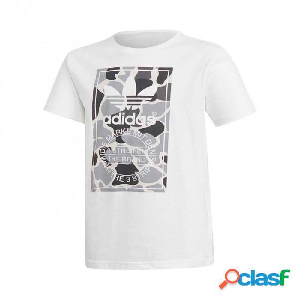 Camiseta Adidas Camo Trefoil Blanco S Small