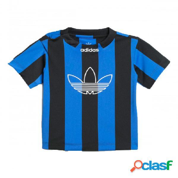 Camiseta Adidas Ed Stripes Jsy 3-6m Extra Extra Large Negro