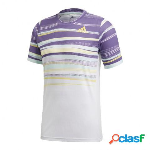 Camiseta Adidas Flft H.rdy Blanco/Morado M Indefinido