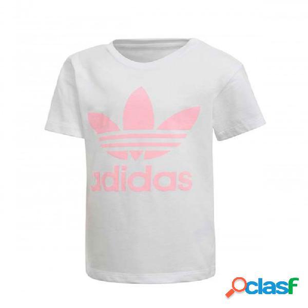 Camiseta Adidas L Trf Tee 5-6a Blanco