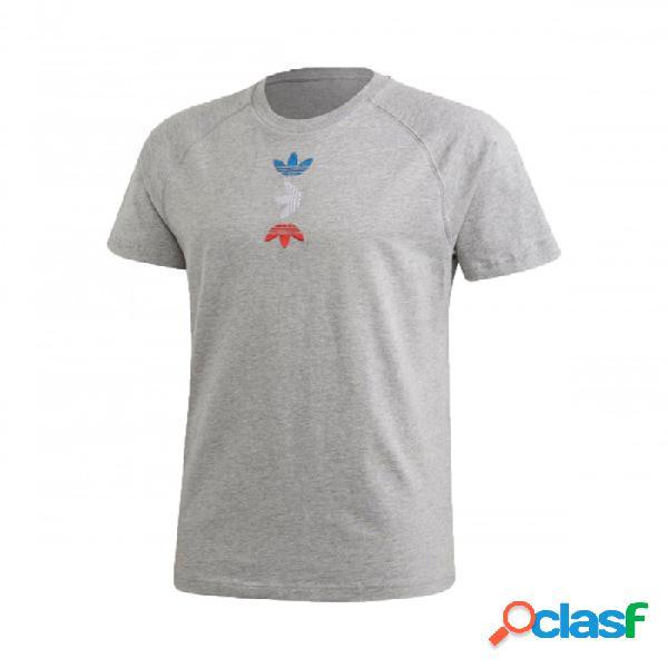 Camiseta Adidas Ref/met Tee Gris M Medium