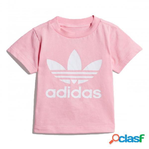 Camiseta Adidas Trefoil Tee 0-3m Rosa