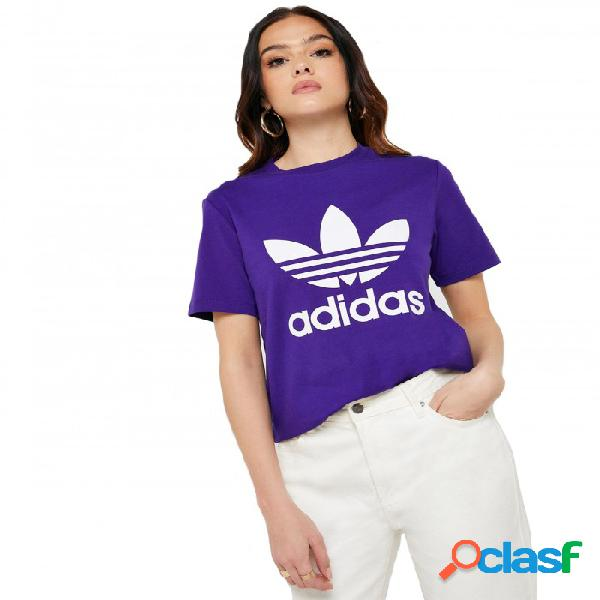 Camiseta Adidas Trefoil Tee 42 Morado