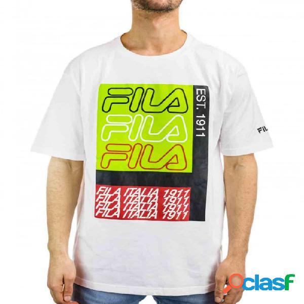 Camiseta Fila Caradoc Dropped Blanco S Small