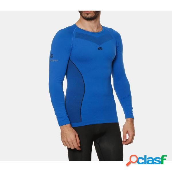 Camiseta Térmica Hg Sport 8632 Hombre Azul S