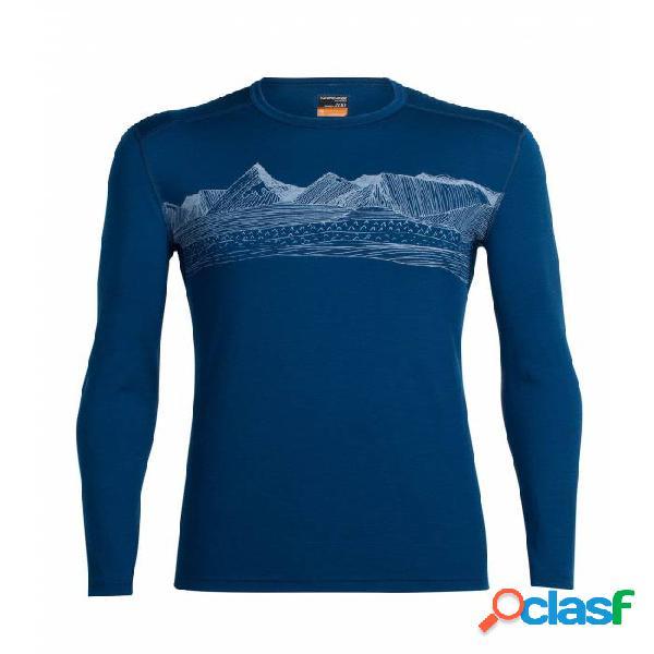 Camiseta Térmica Icebreaker Oasis Ls Crewe Hombre Azul Azul