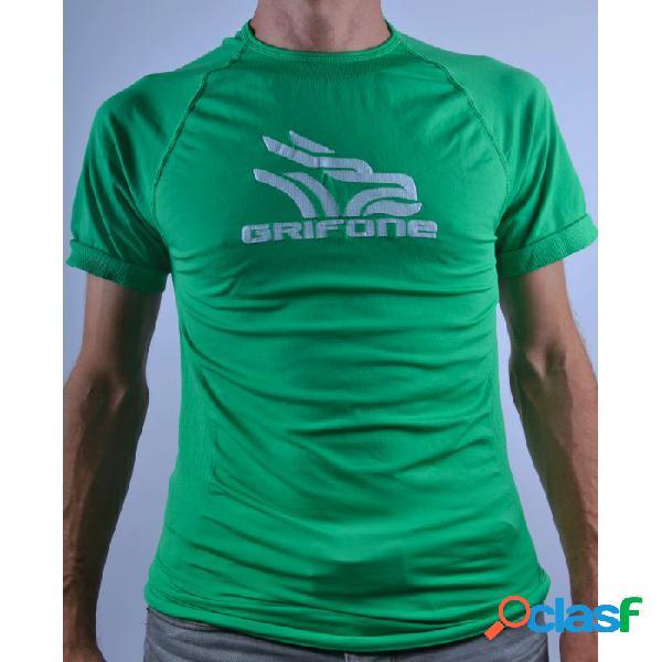 Camiseta Térmica Manga Corta Grifone Tacket Hombre Verde Xl