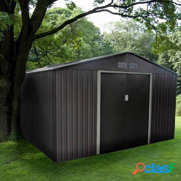 Caseta jardin metalica gardiun bristol 7,74 m2 gris