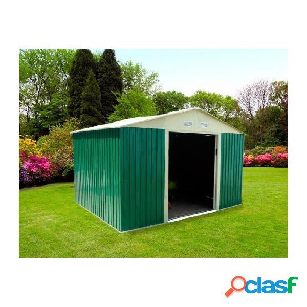 Caseta jardin metalica gardiun bristol 7,74 m2 verde
