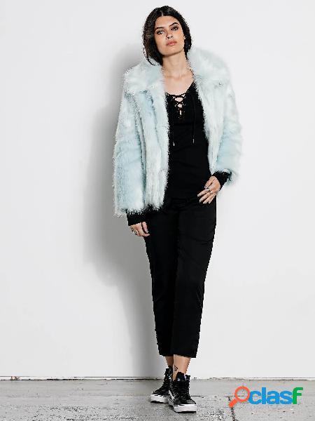 Chaquetón De Piel Sintética Gmj Fur Coat - Cool Blue