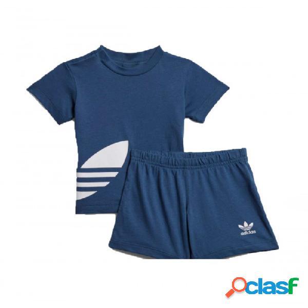 Conjunto Adidas Big Trefoil Sts 3-6m Azul
