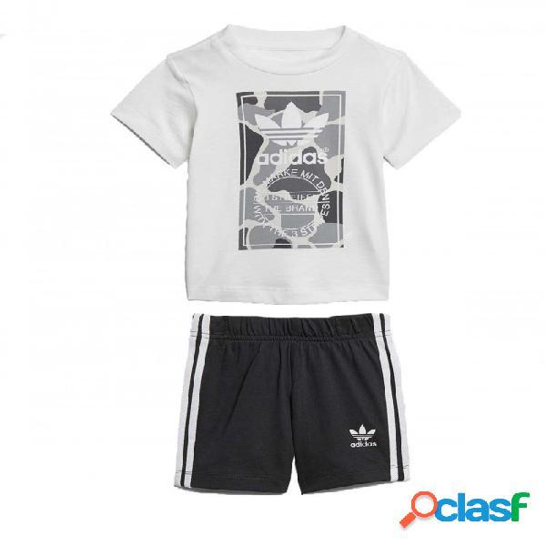 Conjunto Adidas Trifolio Camo 3-6m Blanco