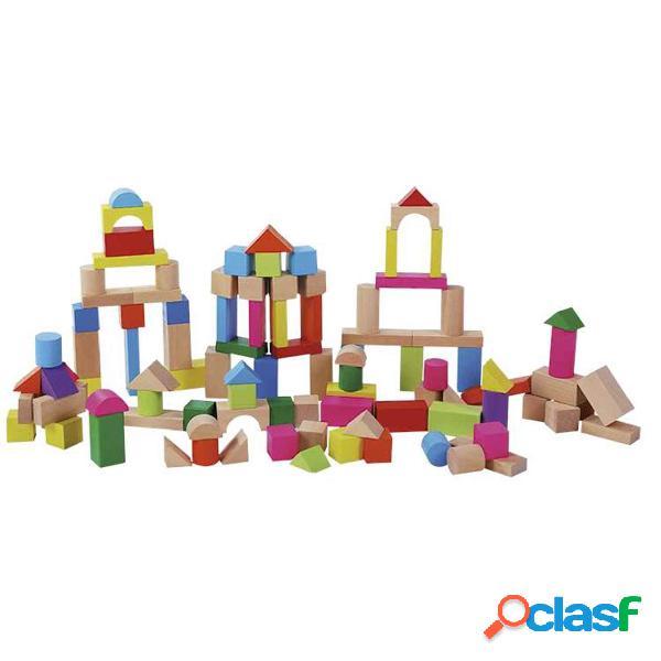 Cubo Encajaformas 100 Piezas | Juguetes de Madera | Petit