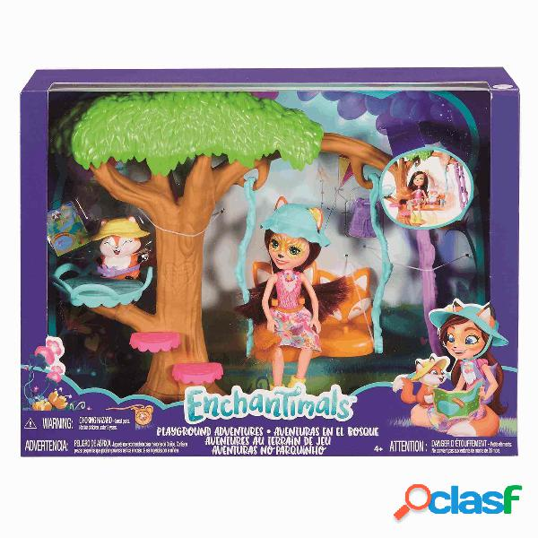 Enchantimals muñeca + Jardín Divertido