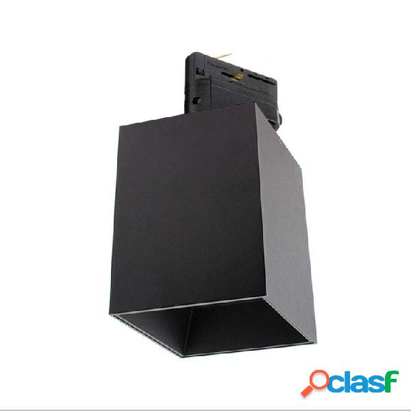 Foco de carril negro prolux reail housing square 110