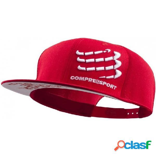 Gorra Compressport Flat Cap Rojo Rojo
