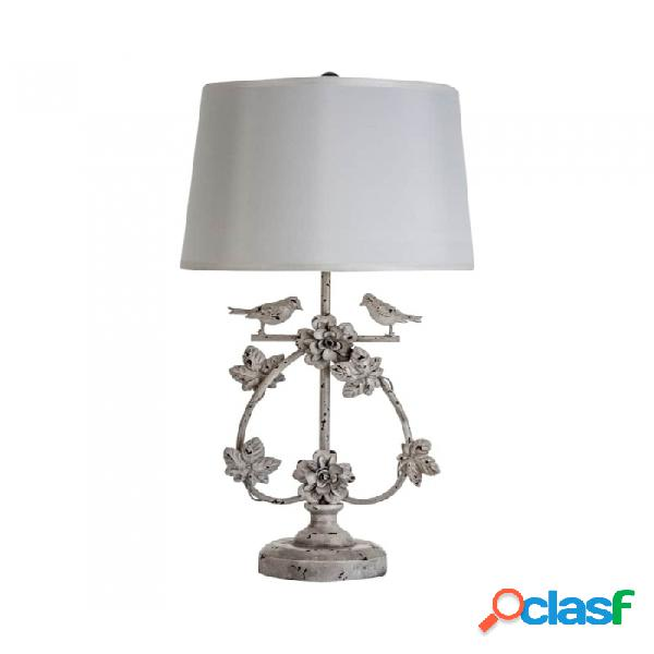 Lámpara De Sobremesa Gris Hierro 38 X 73