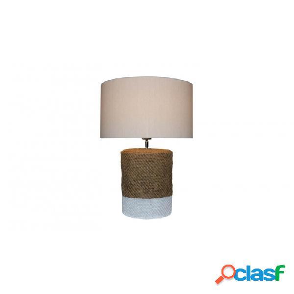 Lámpara De Sobremesa Natural Blanco Ceramica 42 X 66,5