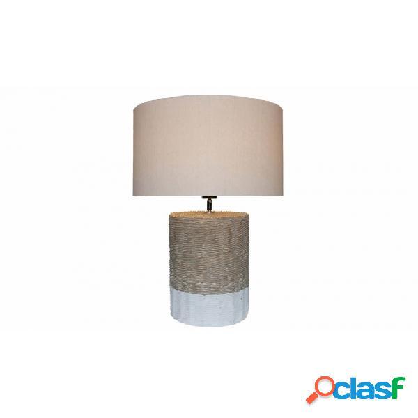 Lámpara De Sobremesa Natural Blanco Ceramica 42 X 67