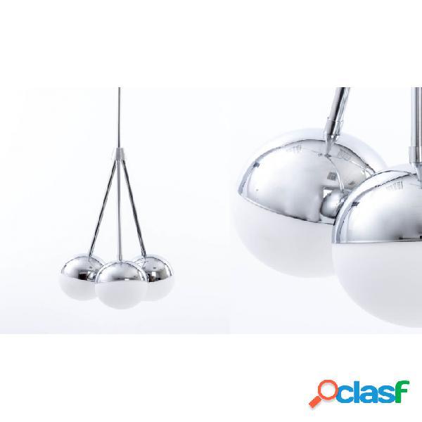 Lámpara Techo Cromo Cristal Metal Y 36 X 104