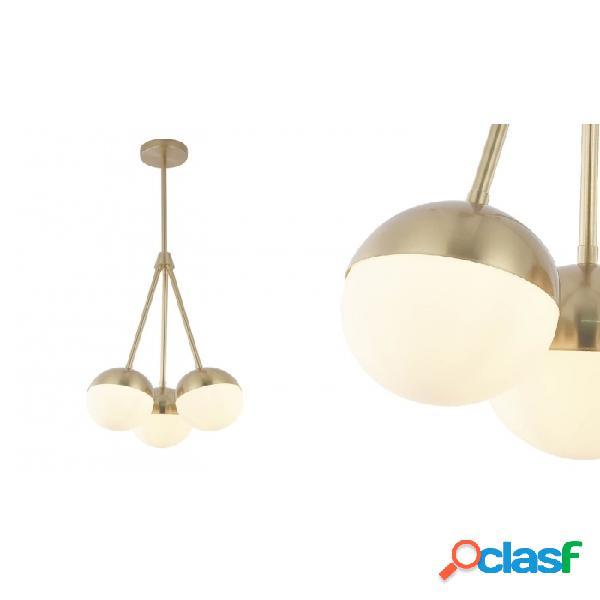 Lámpara Techo Oro Cristal Metal Y 36 X 104