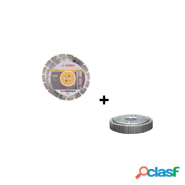 Lote 2 discos de diamante bosch 230 mm con 1 tuerca