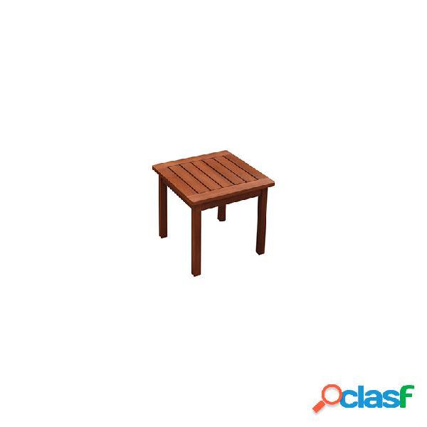 Mesa auxiliar baja de madera tropical acacia fsc