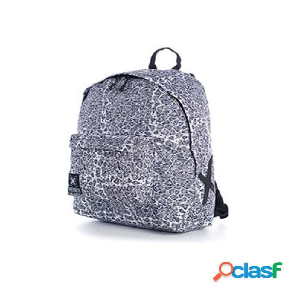 Mochila Munich Backpack 12 Dimonds Blanco Y Negro Blanco