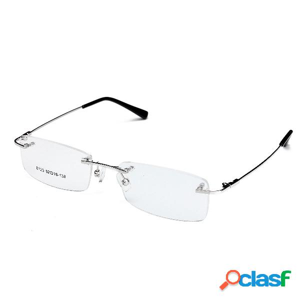 Montura de lentes de titanio sin montura Gafas para hombre