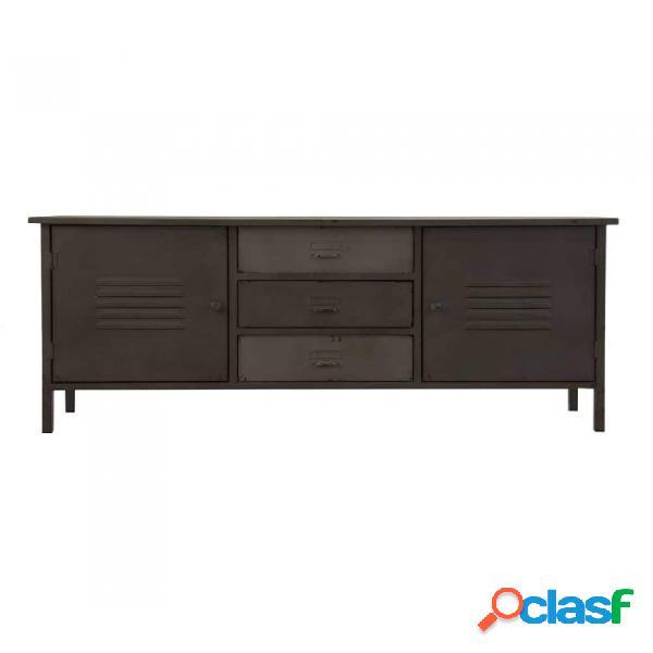 Mueble De Tv Gris Hierro Industrial 120 X 30 51